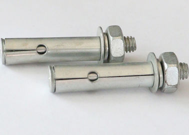Wedge Type Sleeve Type Anchor Bolts , Heavy Duty Anchor Bolts White Zinc Surface Treatment